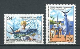 Nlle CALEDONIE 1980 PA N° 202/203 ** Neufs = MNH Superbes  Cote 5 € Poissons Fishes Pêche Fishing - Aéreo