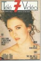 """TELE 7 VIDEO  N° 32  """" ISABELLE ADJANI  """" -  OCTOBRE 1989 - Télévision"""