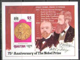 M1372 Nobel Prize 1978 Bhutan S/s MNH ** Imperf Imp - Nobel Prize Laureates