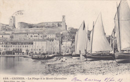 CANNES , France , PU-1903 ; La Plage & Le Mont Chevalier - Cannes