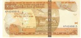ETHIOPIA 50 BIRR 2008 PICK 51d UNC - Ethiopie