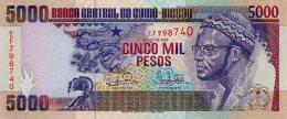 GUINEA BISSAU 5000 PESOS 1993 PICK 14b UNC - Guinea-Bissau