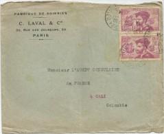 1934 FRANCIA CORREO AÉREO - FRANCIA, SOBRE COMERCIAL DIRIGIDO AL AGENTE COMERCIAL DEL CONSULADO FRANCES - Airmail