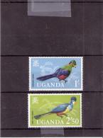 Oiseaux - Uganda Yv.72 + 74 - XX/MNH - Ouganda (1962-...)