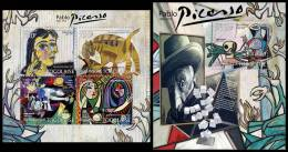 TOGO 2012 - Pablo Picasso - YT 2884-7 + BF582, Mi 4463-6 + B709 - Picasso