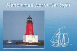 Menominee North Pier Light Menominee Michigan - United States