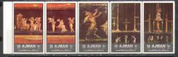 2551 Painting Disaster Volcano Archeology Pompei 1972 Ajman 5v Set MNH ** 6ME - Mythology