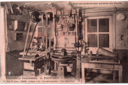 """Cpa  14  Caen """" Charcuterie Poupinet """" Le Laboratoire..les Machines, Rue Saint Jean Caen - Caen"""