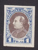 Albania, Scott #193, Mint Hinged, President Ahmed Zogu, Issued 1925 - Albania