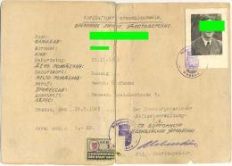 Personalausweis 1945, SBZ - DDR, Russische Zone, Dessau Anhalt, Für Einen In Danzig Geborenen Mann - GDR
