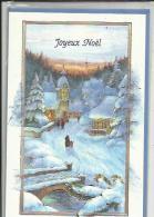 Carte Depliante De Joyeux  Noel  Avec Son Enveloppe ( G F ) - Noël