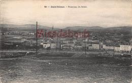 42 - SAINT ETIENNE ST - Panorama Du Soleil - Dos Vierge   - 2scans - - Saint Etienne