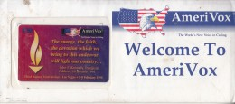 USA - Third Annual Convention/Las Vegas, Amerivox Prepaid Card $20, Tirage 13333, 01/95, Mint - Stati Uniti