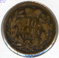 Serbia 10 Para 1868 - Serbia