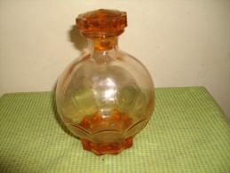CARAFE ANCIENNE EN VERRE ROSE - Verre & Cristal