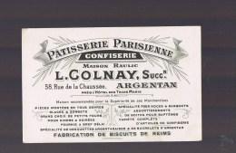Patisserie Parisienne . ARGENTAN . L . Colnay . - Publicidad