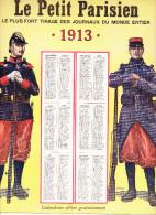 Calendrier 1913 Du Petit Parisien - Bristol - 30 Cm X 25 Cm - Infanterie Cavalerie Fantassin Uniforme - Livres, Revues & Catalogues