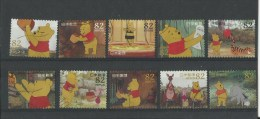113.JAPAN 2014 DISNEY CHARACTERS WINNIE THE POON 82 YEN COMP. SET OF 10 STAMPS - Used Stamps