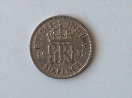 UK GRANDE BRETAGNE SIX 6 PENCE 1939 ARGENT SILVER - 1902-1971 : Monnaies Post-Victoriennes