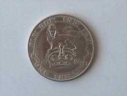 UK GRANDE BRETAGNE ONE 1 SHILLING 1926 ARGENT SILVER - 1902-1971 : Monnaies Post-Victoriennes