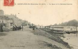 Dep - 78 - CONFLANS SAINT HONORINE Le Quai Et Le Bateau Lavoir - Conflans Saint Honorine