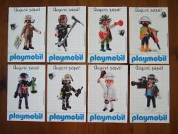 Playmobil Lot De 8 Cartes Postales - Jeux Et Jouets