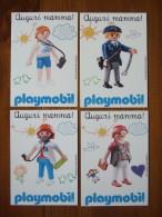 Playmobil Lot De 4 Cartes Postales - Jeux Et Jouets