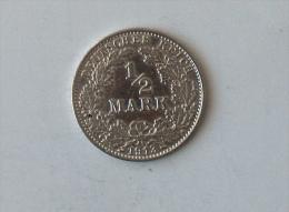 ALLEMAGNE 1/2 MARK 1913 A ARGENT SILVER - [ 2] 1871-1918: Deutsches Kaiserreich