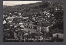 1960 PIETRASTORNINA (AVELLINO) PIAZZA CENTRALE VISTA DAL CASTELLO MEDIOEVALE FG V SEE 2 SCANS LUCIDA ANIMATA - Other Cities