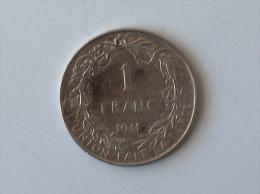 BELGIQUE 1 FRANC 1911 ARGENT SILVER - 1909-1934: Albert I