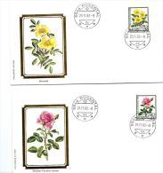 """23834 - 4 Enveloppes Suisses Avec Timbres """"roses"""" Et Cachet à Date De Rosental 1982 - Roses"""