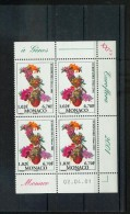 Monaco 2297 02 04 2001 Euroflora Bloc De 4 Coin Daté  Neuf ** TB MNH SIN CHARNELA  Faciale 4.08 - Nuovi