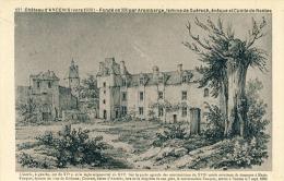 Chateau D'Ancenis (vers 1830) Fondé En 990 Par Aremberge  Cpa - Castelli