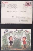 = Addis-Ababa à Castelsarassin 22.1.1970 Enveloppe + Carte (Addis Abeba) Capitale De L'Éthiopie - Äthiopien