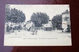 1 Cp L´Isle Sur Sorgue - Vue Prise De L´avenue De La Gare . - L'Isle Sur Sorgue