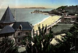 87849 - Perros Guirec (22) Plage De Trestignel Et Pointe Du Chateau - Perros-Guirec