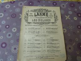 Lakmé - Scores & Partitions