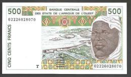 TOGO  ( West African States) 500 Francs 2002- P810Tm - UNC - Togo