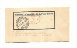 Affranchissement Mécanique Rouge Ovale P 3 P Sur Bande De Journal Du 11  X 38 Oblitérée De Chaux-de-Fonds Pour Paris - Frankiermaschinen (FraMA)