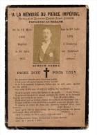 IMAGE PIEUSE A LA MEMOIRE DU PRINCE IMPERIAL NAPOLEON EUGENE LOUIS JEAN JOSEPH PRIEZ DIEU - Godsdienst & Esoterisme