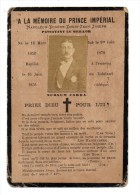 IMAGE PIEUSE A LA MEMOIRE DU PRINCE IMPERIAL NAPOLEON EUGENE LOUIS JEAN JOSEPH PRIEZ DIEU - Religión & Esoterismo