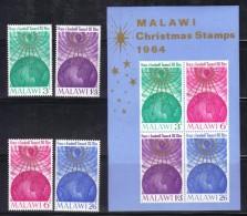 GF439 - MALAWI 1964, BF N. 1 PIù La Serie *** MNH . Natale - Malawi (1964-...)