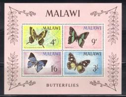 GF497 - MALAWI 1966, BF N. 5 *** MNH . Farfalle Papillon - Malawi (1964-...)