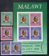 GF598 - MALAWI 1966, BF N. 7 Più Serie 56/59 *** MNH . - Malawi (1964-...)