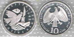 ALEMANIA DEUTSCHLAND 10 MARK 1998 F PLATA SILVER - [ 7] 1949-… : FRG - Fed. Rep. Germany