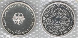 ALEMANIA DEUTSCHLAND 10 MARK 1999 F PLATA SILVER - [ 7] 1949-… : FRG - Fed. Rep. Germany