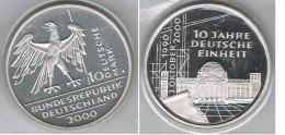 ALEMANIA DEUTSCHLAND 10 MARK 2000 A PLATA SILVER - [ 7] 1949-… : FRG - Fed. Rep. Germany