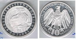 ALEMANIA DEUTSCHLAND 10 MARK 2001 J PLATA SILVER - [ 7] 1949-… : FRG - Fed. Rep. Germany