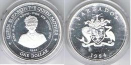 BARBADOS DOLLAR 1994 PLATA SILVER - Barbados