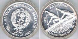 BULGARIA 25 LEBA 1989 PLATA SILVER - Bulgaria